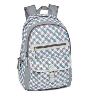 Laura Ashley Hatty Houndstooth Girl's Backpack NEW